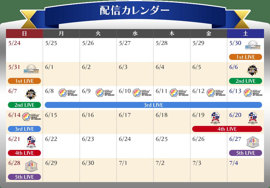 ミリオン1st~5thLIVE一挙放送!!! | アイドルマスター ミリオンライブ ...